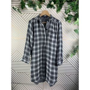 Madewell Black White Latitude Shirt Dress